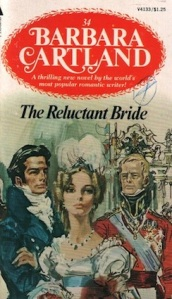 Barbara Cartland's novels - Always filled with heaving-bosomed beauties, strong-jawed noblemen and repressed passion (until the final pages).