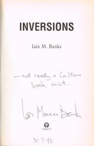Iain Banks autograph