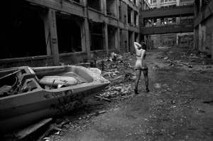 "Packard plant, East Side. (Photo by Danny Wilcox Frazier in ""Detroit - An American Autopsy"")"