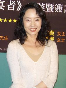 Geling Yan at the 2008 Taipei International Book Exhibition (Photo: 16 February 2008, Rico Shen)