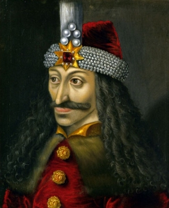 The Ambras Castle portrait of Vlad III, c. 1560, reputedly a copy of an original made during his lifetime. 16th century oil painting, Kunsthistorisches Museum, Vienna.