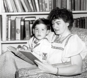 P.L. Travers and her adopted son, Camillus.