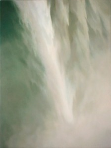 "Mitchell Albala, Plunge, 2008, oil on canvas, 32"" x 24"", from Landscape Paining, p. 169."
