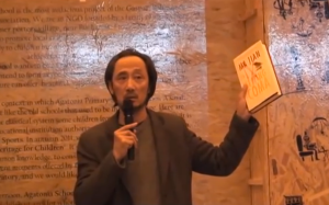 """In April 2012, in a dramatic act of protest at the London Book Fair, Chinese author Ma Jian smeared red paint across his face to demonstrate his anger at the choice of China as the event's """"market focus"""". He spoke out against Chinese censorship of """"taboo"""" subjects."""
