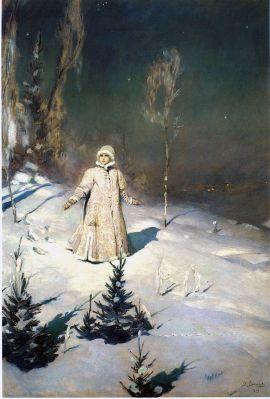 """Snegurochka"" - Painting of ""Snow Maiden"" (1899) by Victor Vasnetsov Viktor Mikhailovich Vasnetsov - Scanned from A. K. Lazuko Victor Vasnetsov, Leningrad: Khudozhnik RSFSR, 1990, ISBN 5-7370-0107-5"