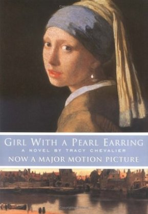 "Novel ""Girl with a Pearl Earring"", by Tracy Chevalier (Publisher: Penguin Books; Reissue edition Jan. 1, 2001, 240pp.) Note the title: A pearl earring, not THE pearl earring, as in the painting."