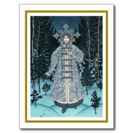 Postcard of the Snow Maiden, by Boris Zvorykin