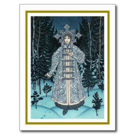 Postcard of the Snow Maiden, by Boris Zvorykin