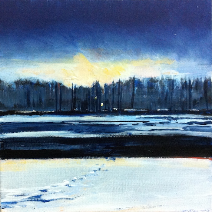 New paintings - A summer walk in Hagley Park, Christchurch, and two tankas (2/2)