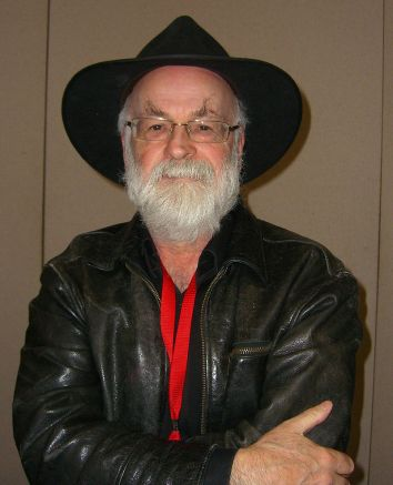 """The pen is mightier than the sword if the sword is very short, and the pen is very sharp."" ~ The Light Fantastic (Photo of Terry Pratchett by Luigi Novi)"