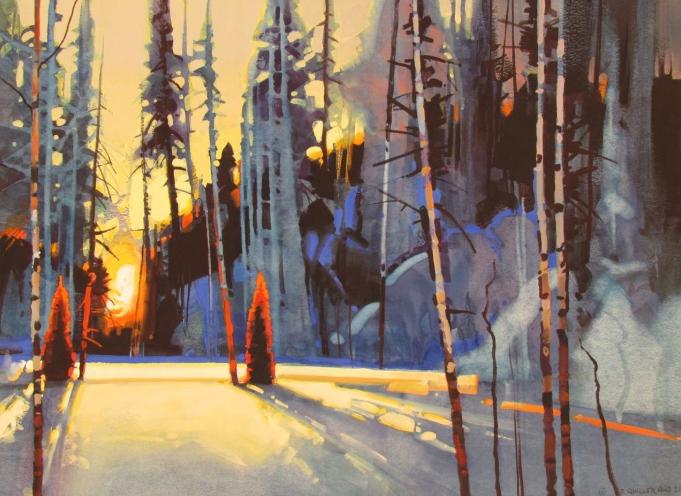 New painting - Sunset over Revelstoke III (2/2)