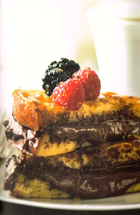 "Recipe for decadent ""Ellie Hatcher's Rum-Soaked Nutella French Toast"" from Alafair Burke"