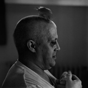 One of a series of prison portraits by photographer Lieven Drollet, in an exhibition called Geen schuld, wel straf (guilt, no, punishment, yes), which ran from 30 Oct. - 24 Dec. 2011, at Museum Dr. Guislain in Gent, Belgium.
