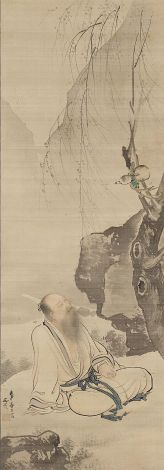 Tao Yuanming Seated Under a Willow. Tani Bunchō, Japan, 1812