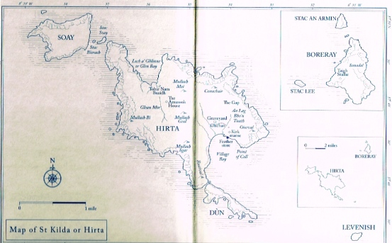 Location of St. Kilda (inside front cover of book)