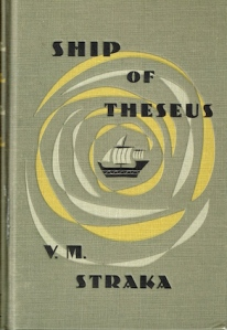S., a.k.a. Ship of Theseus by V.M. Straka, by Doug Dorst and J.J. Abrams (Published by Mulholland Books, Little Brown; Slipcase and package design by Hachette Book Group, Inc., 2013)