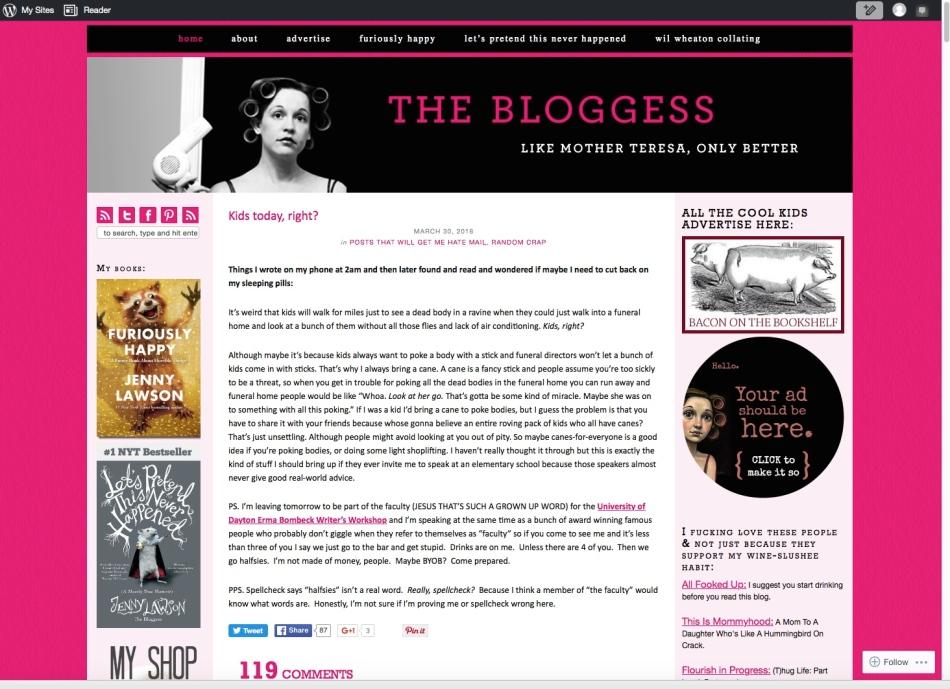 Jenny Lawson's website