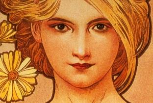 A typical Alphonse Mucha woman