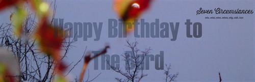 8 Happy birthday to The Bard