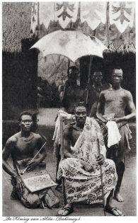 Photo of the King of Dahomey, 1925