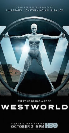 Poster from the WestWorld TV series of 2016.
