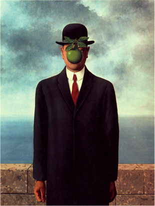 """""""The Son of Man"""" by René Magritte, 1964."""