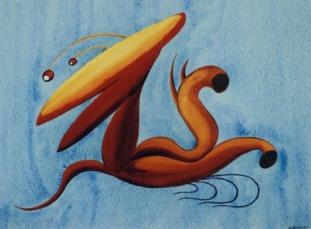 """""""Sand-bumptious"""", by Grace Pailthorpe, 1937."""