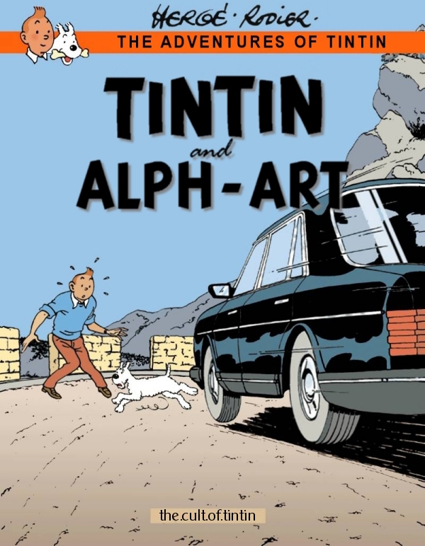 The cover of Tintin and Alph-Art, illustrated by Yves Rodier - a super-fan.