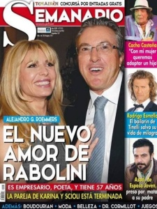 The headline says: Alejandro Roemmers, the new love of Rabolini