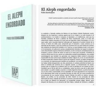 The Fattened Aleph, originally El Aleph Engordado, by Pablo Katchadjian.