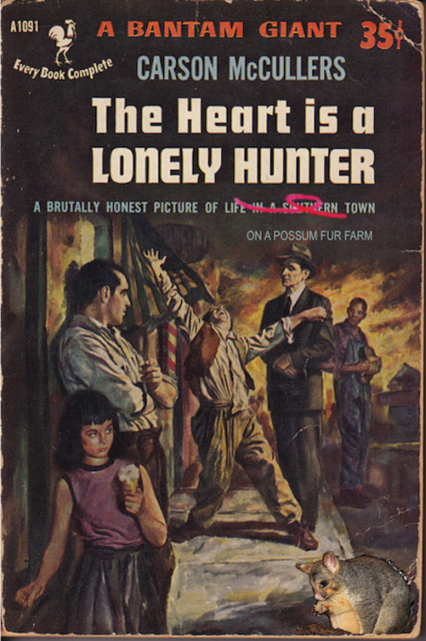The heart is a lonely hunter with possum