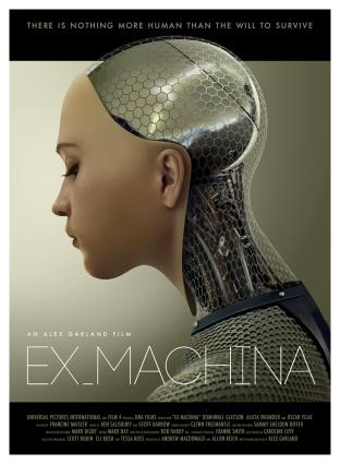 """Ava"", the AI robot in the superb film, Ex Machina (2015)"