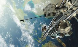 """Visualization of a space elevator concept by Katherine Burgess, Ross Gregorive, Mason Roberts, Kevin Thompson, Matt Uleman, from """"Space Elevator - PHYS 310"""", on www.energyphysics.wikispaces.com. rtrvd. 2017-07-07"""