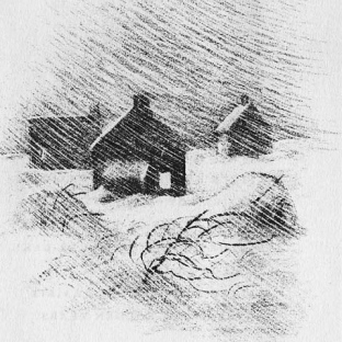 "Illustration by Garth Williams in ""the Long Winter"", by Laura Ingalls Wilder"