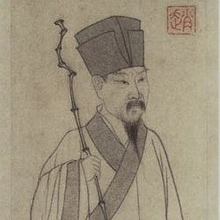 Portrait of Su Tungpo by Zhao Mengfu.