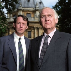 "John Thaw (right) as ""Inspector Endeavour Morse"", and Kevin Whately as ""Sergeant Lewis"", later ""Inspector Lewis""."