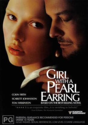 "Film poster of ""Girl with a Pearl Earring"" (2003)."