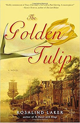 """The Golden Tulip"", by Rosalind Laker (Publisher: Broadway Books; reprint edition Nov. 27, 2007; paperback: 576 pp.) About ""Francesca"" who is apprenticed to ""Johannes Vermeer"" in Delft, but falls for ""Pieter van Doorne"", a tulip merchant, during the ""tulip mania""."