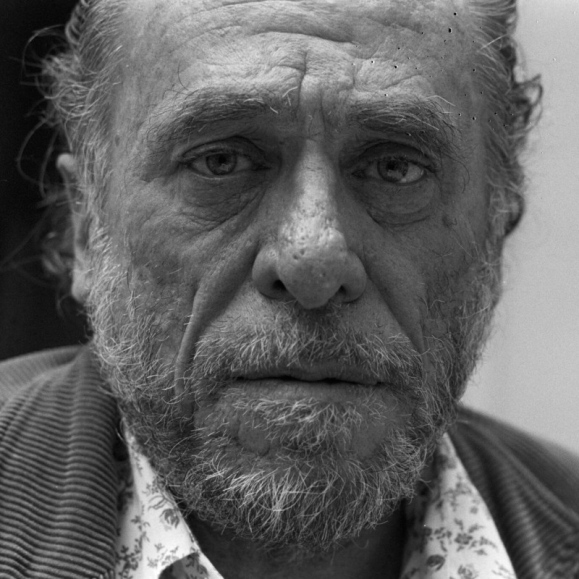 Charles Bukowski, a barfly, like the title of one of his novels.