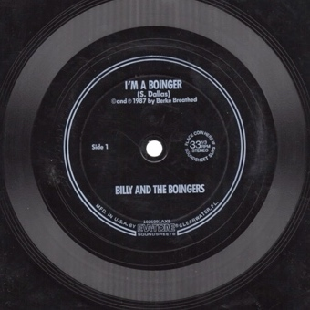 Flexi-disk insert in paperback of Billy and the Bootleg Boingers by Berke Breathed.
