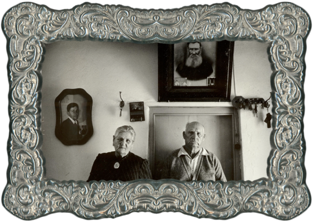 My grandparents, Koos and Martha Nieuwoudt, in the sitting room of their farmhouse on their farm, Rondawel, in South Africa.