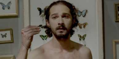 Still of Shia LaBeouf in the film Nymphomaniac.