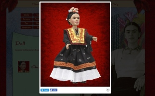 The doll on the website of the Frida Kahlo Corporation