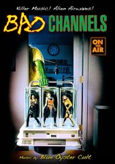 """Bad Channels"", 1992. An alien determined to capture human females takes over a radio station to do it."