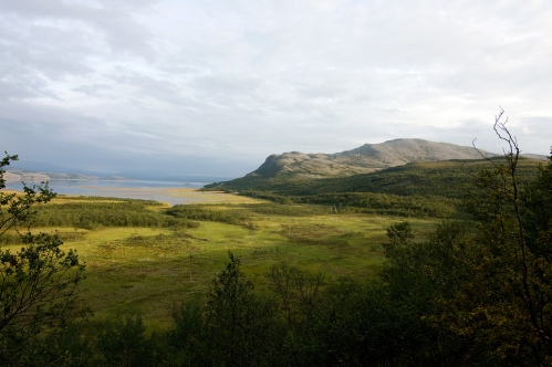 "Finnmark: View towards Váldatgohppi and Kunsavárri mountain in Porsanger, Norway; taken 1 August 2009, image by Wikimedia Commons user ""Blue Elf""."