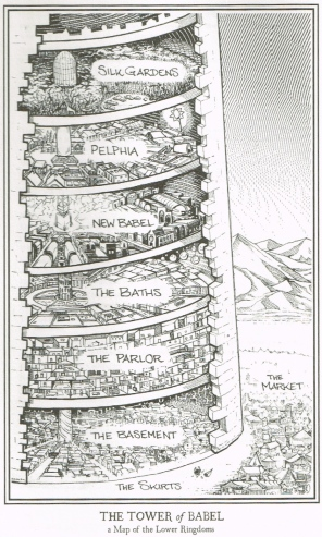 "The Tower of Babel - illustration from ""Arm of the Sphinx"", by Josiah Bancroft. Illustration by the author himself, Josiah Bancroft."