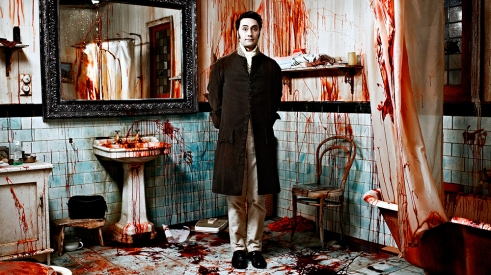 """Almost getting the gist of it - """"What We Do in the Shadows"""", 2014. Here, after a good night's feasting, is Taika Waititi as """"Viago"""", aged 379 – the uptight leader of the household."""
