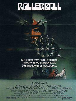 Rollerball, 1975 film. Death on rollerskates.