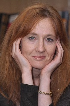 J.K. Rowling, in 1998, before global fame and fortune.