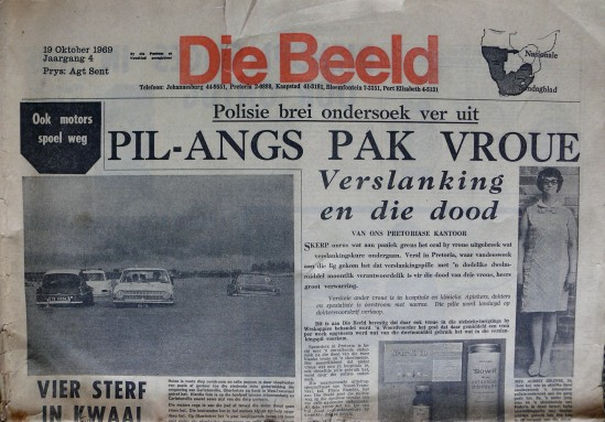 Afrikaans newspaper headlines from 1969